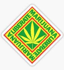 Liberate Marijuana Sticker