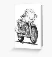 Moto Guzzi mk1 Le Mans Greeting Card
