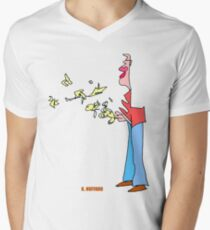 Bird Man Men's V-Neck T-Shirt