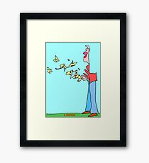 Bird Man Framed Print
