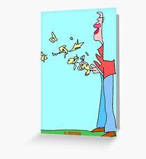 Bird Man Greeting Card