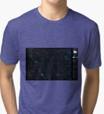 USGS TOPO Map Iowa IA Charles City 174297 1985 100000 Inverted Tri-blend T-Shirt