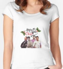 It's Beginning to Look A Lot Like CHRIStmas Women's Fitted Scoop T-Shirt