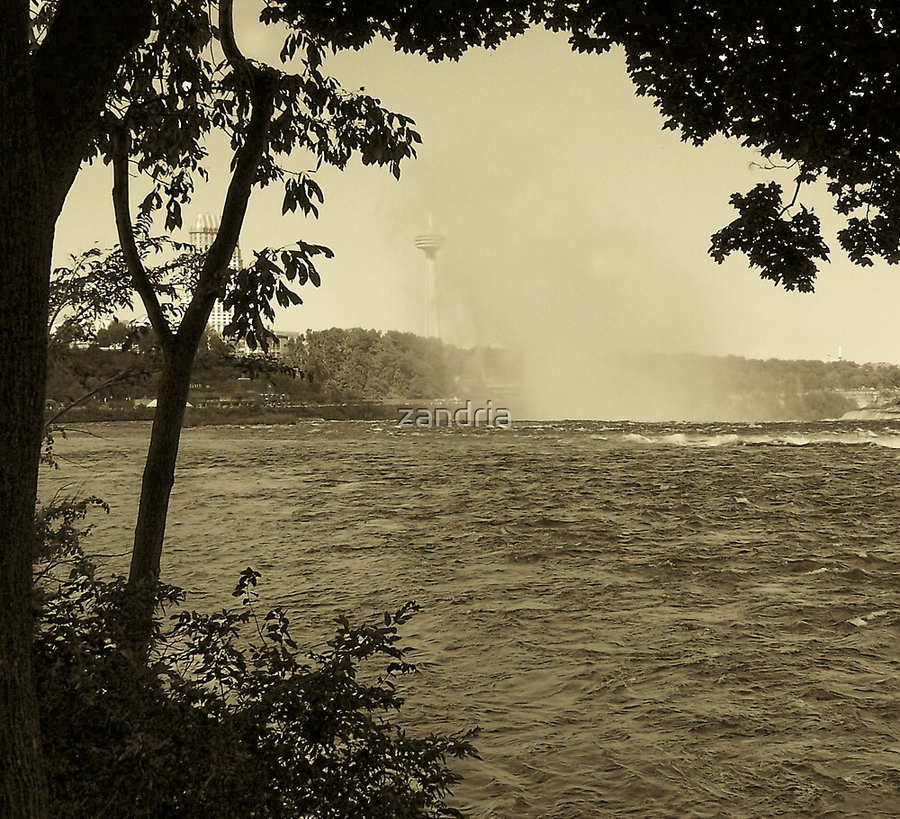 Behind the Falls by zandria