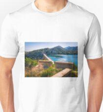 A view across La Pressa de Amadorio Unisex T-Shirt