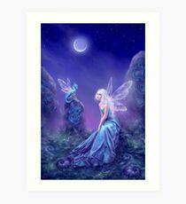 Luminescent Fairy & Dragon Art Art Print