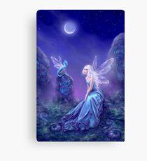 Luminescent Fairy & Dragon Art Canvas Print