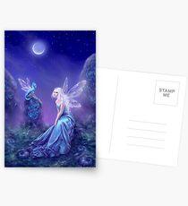 Leuchtende Fee & Drachenkunst Postkarten