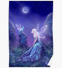 Leuchtende Fee & Drachenkunst Poster