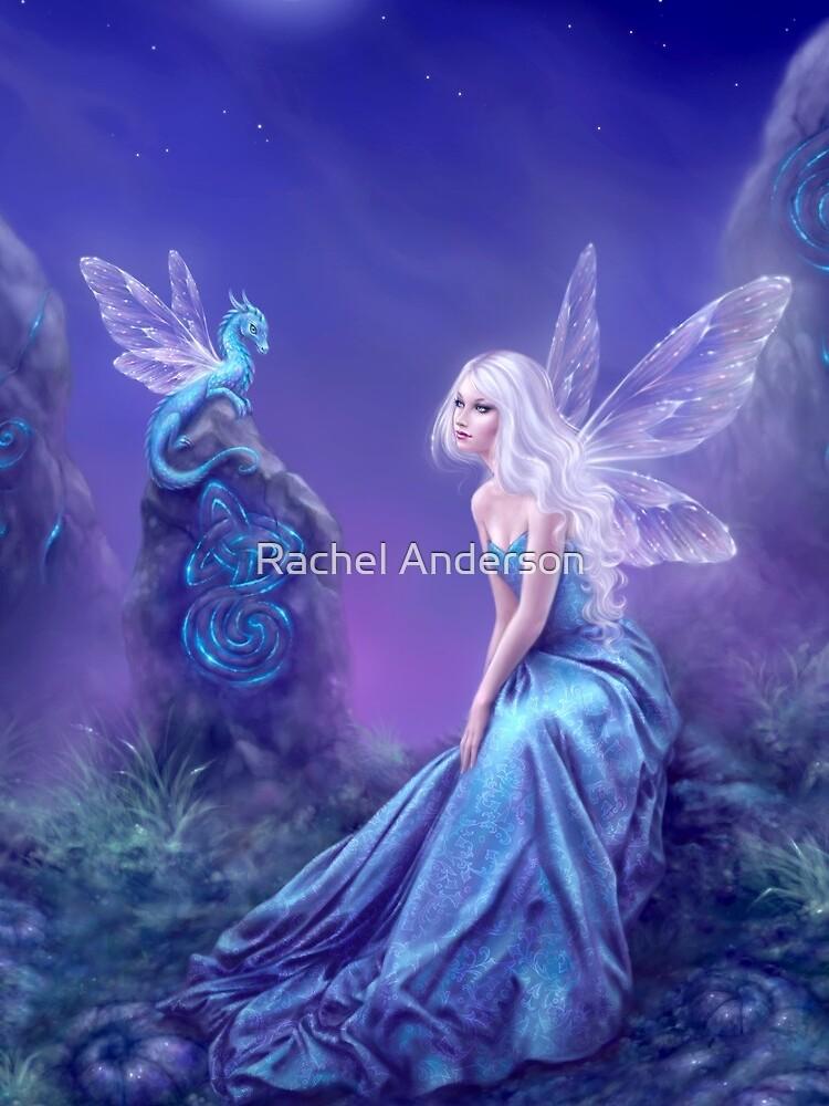 Hada luminiscente y arte del dragón de silverstars