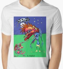 The Cow Jumped Over the Moon Men's V-Neck T-Shirt