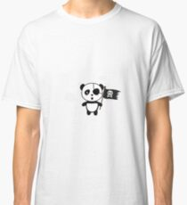 Panda Pirate with Flag Ra19o Classic T-Shirt