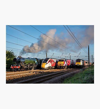 4 Trains Photographic Print