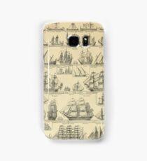 french vintage sailing ships Samsung Galaxy Case/Skin
