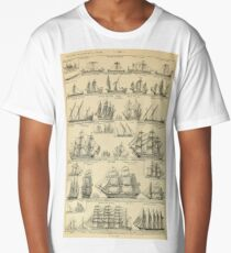 french vintage sailing ships Long T-Shirt