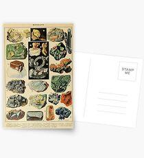 MINERALIEN - Französische Geologie Postkarten