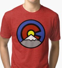 Denver Colorado Flag Design - The Mile High City Tri-blend T-Shirt