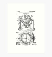 Nautical Compass Patent Art Print