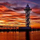 Sunset at Dobbins Landing - Erie, PA by Kathy Weaver