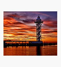 Bicentennial Tower at Dobbins Landing - Erie, PA Photographic Print