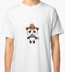 Panda Cowboy with horseshoe Rtao7 Classic T-Shirt