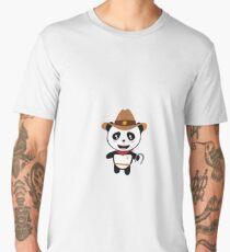 Panda Cowboy with horseshoe Rtao7 Men's Premium T-Shirt