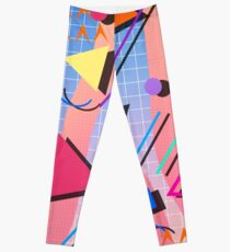 80s pop retro pattern 2 Leggings