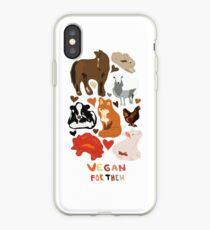 Vegan for the animals iPhone Case