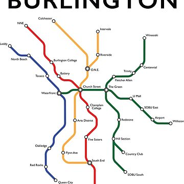 Burlington Vermont - Metro Map by GreenMountainT