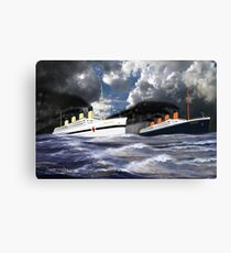 RMS Titanic and her Sister the HMHS Britannic early 20th century Canvas Print