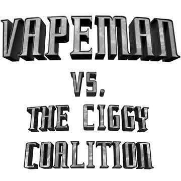 Vapeman vs. Ciggy Logo by locokimo