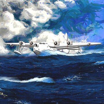Short Sunderland Flying Boat WW2 by ZipaC