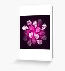 Abstract Water Drops Greeting Card