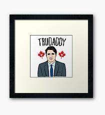 """Justin """"Trudaddy"""" Trudeau Framed Print"""