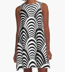 Elegant Jazz Age Art Deco Pattern A-Line Dress