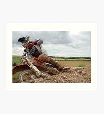 Ashdown Motocross track Art Print