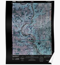 USGS TOPO Map Iowa IA Boone West 20100427 TM Inverted Poster