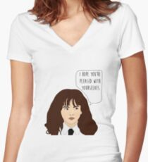 Pleased Women's Fitted V-Neck T-Shirt