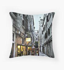 Venice Back Street Throw Pillow