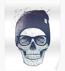 Skull in a hat Poster