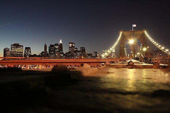 View from Brooklyn Bridge by Sreejith Kaimal