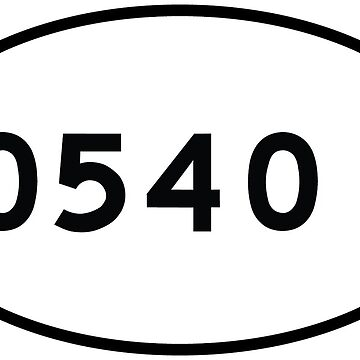 05401 zip code - Euro Oval Sticker by GreenMountainT