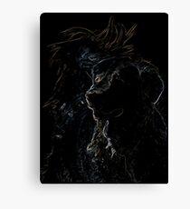 Golden Retriever, Colourful, black shirt Canvas Print