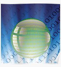 digital ball Poster