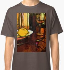 Lemon, Wine, Glass and Fork Classic T-Shirt