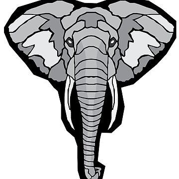 Geometric Elephant by sherman101