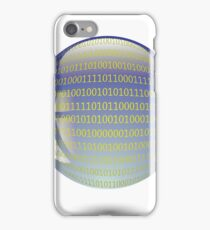 digital sphere with programming code isolated on white background iPhone Case/Skin