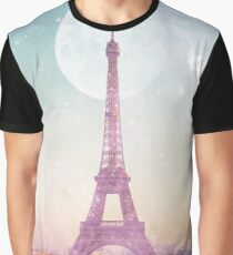 I LOVE PINK PARIS EIFFEL TOWER - Full Moon Universe Graphic T-Shirt