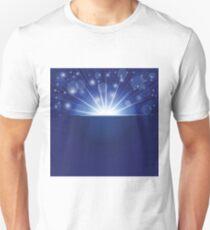blue ray background Unisex T-Shirt