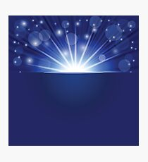 blue ray background Photographic Print